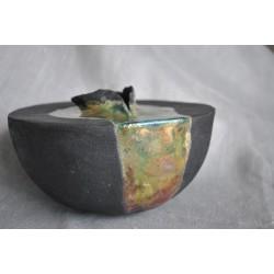 Ręcznie robiony, ceramiczny wazon z abstrakcją