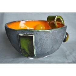 Handmade - ceramiczna, nowoczesna misa z kulami