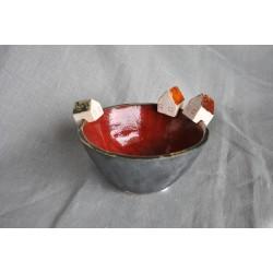 Handmade - ceramiczna miska z szalonymi domkami