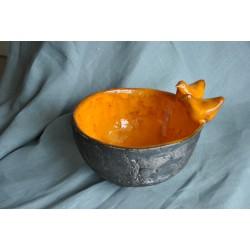 Złoto-pomarańczowe ptaszyny